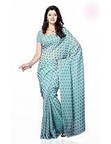 Shariyar Red Net Jacquard Printed Saree PRG373