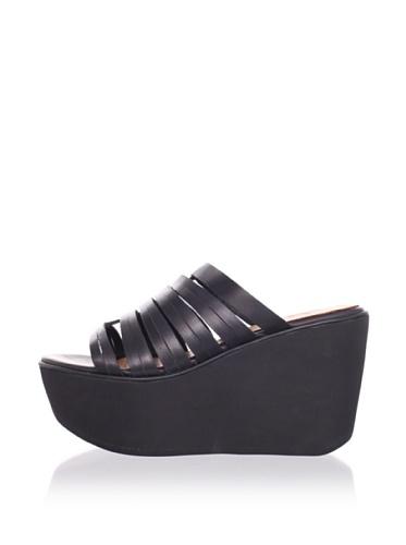 Joe's Jeans Women's Hoop Thong Sandal (Black)