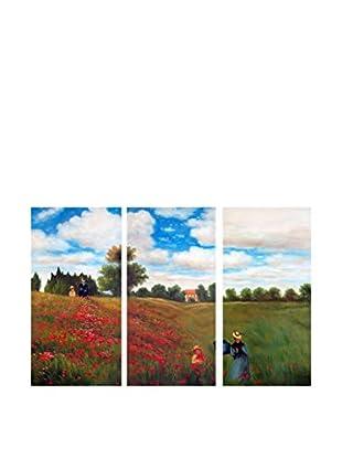 Arte dal Mondo  Wandbild Monet Passeggiata Tra I Papaveri
