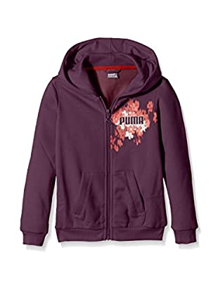 PUMA Mädchen Jacke Fun IND Graphic Hooded Sweat Jacket, Italian Plum, 140, 834283 26