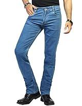 Louppee Men's Denim Slim Fit Jeans (Lp1002Swash-36 _Blue _36)