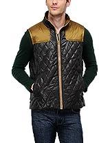 Yepme Men's Polyester Jacket (YPMJACKT0061_Black_X-Large)