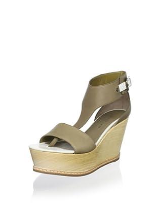 Derek Lam Women's Mirte Platform Wedge Sandal (Olive)