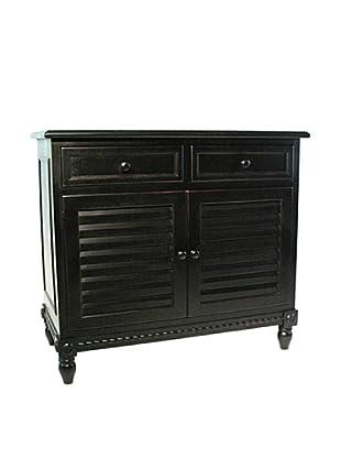 Charleston Stockholm Cabinet, Antique Black