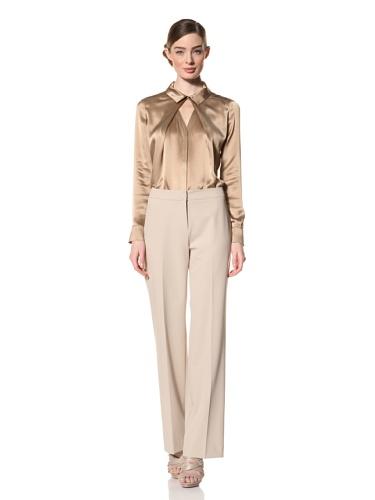 Magaschoni Women's Long Sleeve Shirt (Topaz)