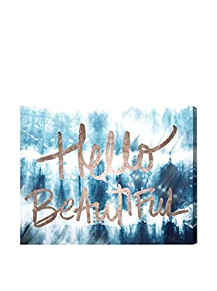 Oliver Gal Hello Beautiful Canvas Art