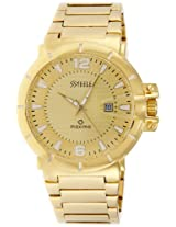 Maxima Ssteele Analog Gold Dial Men's Watch - 24913CMGY