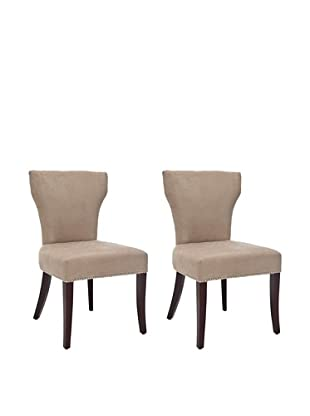 Safavieh Set of 2 Ryan Side Chairs, Wheat