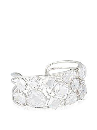 CZ by Kenneth Jay Lane Multi CZ Scatter Cuff Bracelet