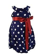 Faye Blue & White Spotty Dress 12- 18 Months