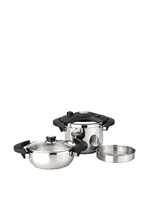 BergHOFF Eclipse 5-Piece Pressure Cooker Set, Silver