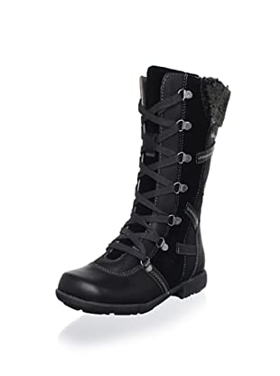 Billowy Kid's Laced Tall Boot (Black)