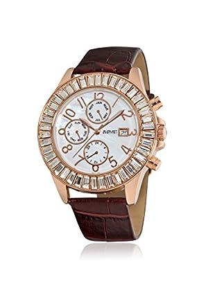 August Steiner Women's AS8037RG Baguette Bezel Brown/White Base Metal Watch