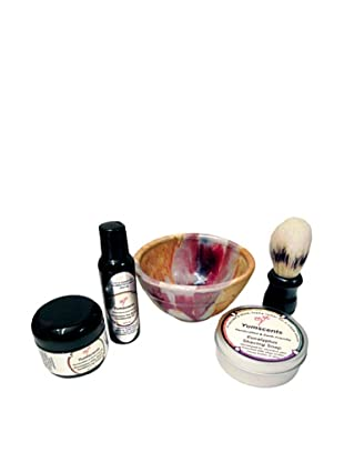 Yumscents Shaving Kit with Handcrafted Pottery Bowl, Eucalyptus