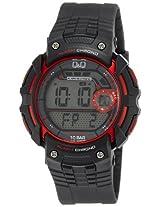 Q&Q Standard Dual Time Digital White Dial Men's Watch M086J004Y