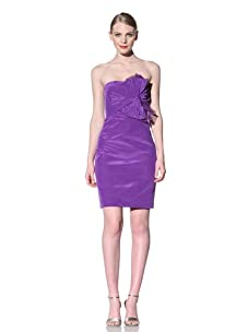 Muse Women's Strapless Dress with Bow (Violet)