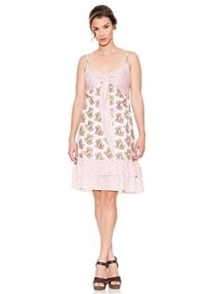 Mahal Vestido Flores (Rosa)