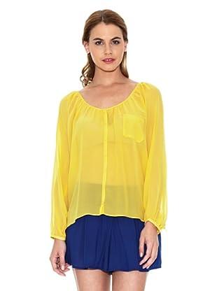 American Vintage Camisa Vaporosa (Amarillo Canario)