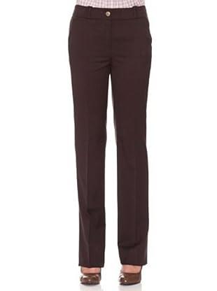 Cortefiel Pantalón Básico Lycra (Marrón Oscuro)
