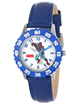 Marvel Comics Kids' W000108 Spider-Man Stainless Steel Time Teacher Watch