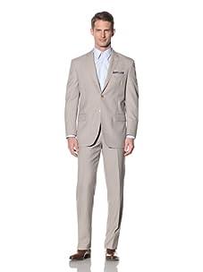 Yves Saint Laurent Men's Mini-Check Suit (Beige)