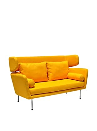International Design USA Winged Sofa, Yellow