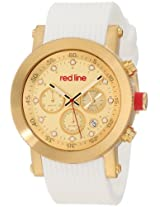 red line Men's RL-18101VD-YG-010-WH Compressor Chronograph Gold Dial White Silicone Watch