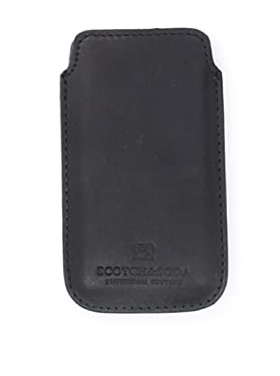 Scotch & Soda Men's Leather iPhone Sleeve (Black)