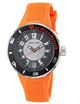 Men'S Active Black And Grey Dial And Orange Rubber (34Brgro)