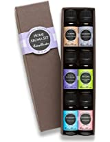 HOME Aroma Set 100% Pure Therapeutic Grade Essential Oil Kit- 6/10 ml of Calming Harmony French Lavender Key Lime Spearmint and Grapefruit Aromatherapy Oils.