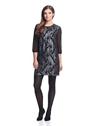 Erin Fetherston Women's Mabel Paisley Dress (Black Multi)