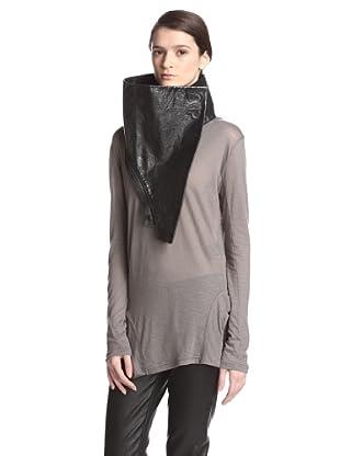 Ann Demeulemeester Women's Crinkle Collar (Black)