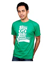 UberPlush Men's Casual T-Shirt UPRN10034GCG ( Green )