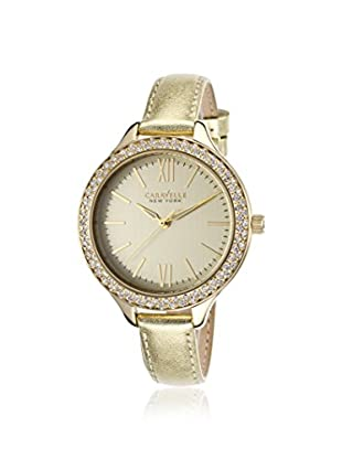 Caravelle by Bulova Women's 44L131 Gold Leather Watch