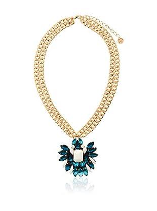 MAIOCCI Collar Dorado / Azul