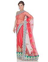 Red Nylon Lehanga Saree Saree