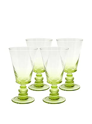 Roma Goblet, Green, Set of 4