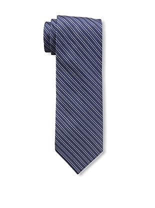 Bruno Piattelli Men's Stripe Silk Tie, Navy