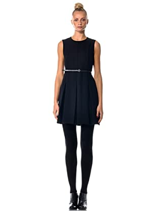 Eccentrica Kleid mit Gürtel (Schwarz)