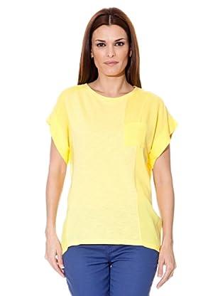Cortefiel T-Shirt Tasche (Gelb)