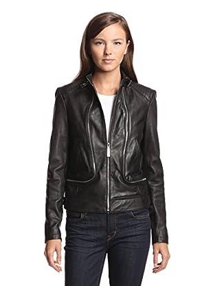 Vince Camuto Women's Leather Jacket (Black)