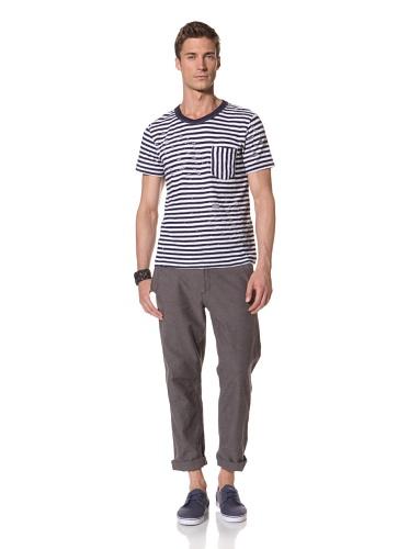 Zen Mechanics Men's Shred Stripe Tee (Navy)