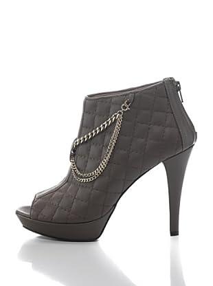 Zapatos Trapuntata Con Catena (Gris)