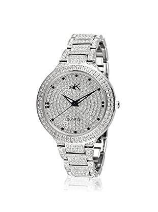 Adee Kaye Women's 9-69L/CR Silver/Crystal Brass Watch