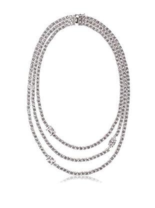 CZ by Kenneth Jay Lane Multi Cz Triple Riviere Necklace
