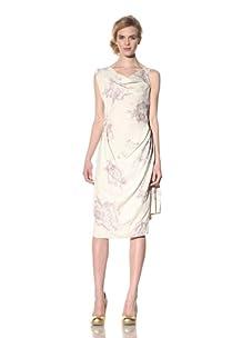 Vivienne Westwood Red Label Women's Asymmetrical Neckline Dress (White/Lavender)