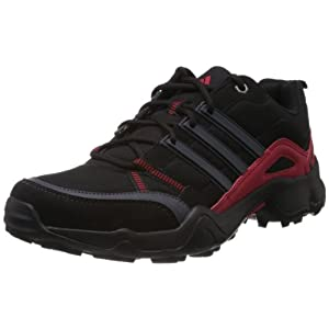 Adidas Men's Woran Black and Red Mesh Outdoor Multisport Training Shoes - 9 UK