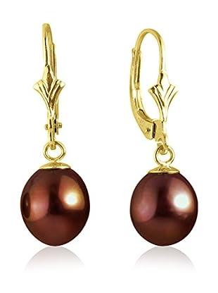 Compagnie générale des perles Orecchini Oro/Rosso Scuro
