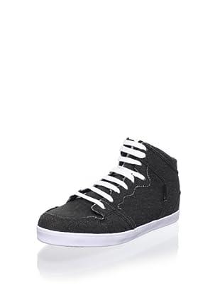 C1RCA Women's 99 Slim Vulc Sneaker (Black/White)