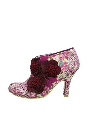 Irregular Choice Zapatos Abotinados Cheeky Moose (Rojo)